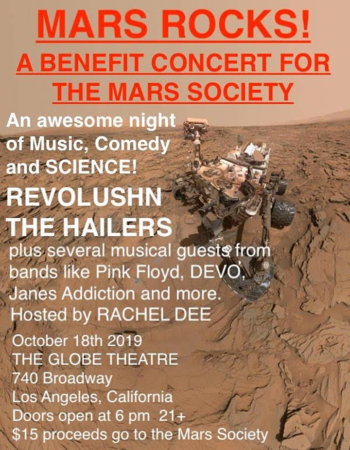 MARS ROCKS! - A BENEFIT CONCERT FOR THE MARS SOCIETY  - Ages 21+ image
