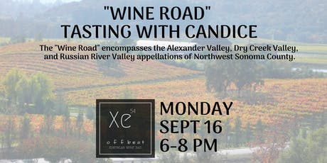 """""""Wine Road"""" Tasting with Candice tickets"""