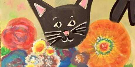 "Pour & Paint ""Pumpkin & the Cat"" tickets"