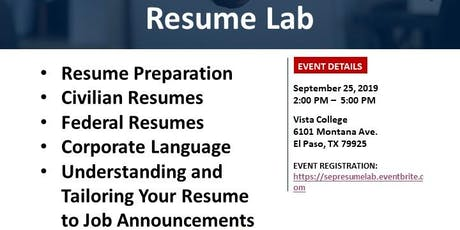 Resume Lab tickets