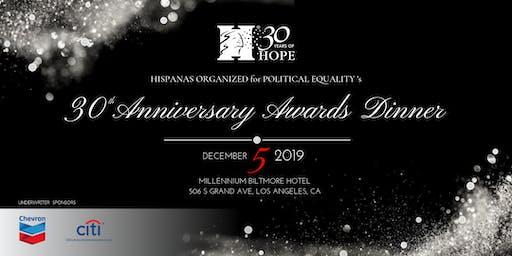 30th Anniversary Awards Dinner