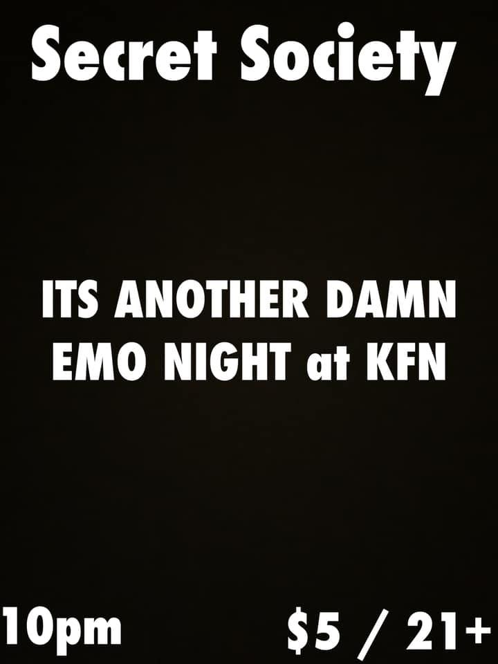 Secret Society – A KFN Emo Punk Night – Tickets – Kung Fu