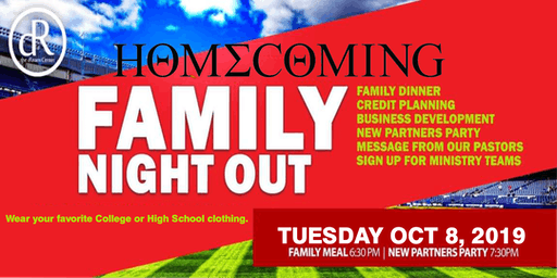 FAMILY NIGHT OUT (New Partners Welcome Party)