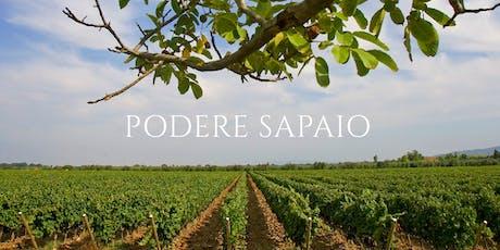 Podere Sapaio Wine Dinner tickets