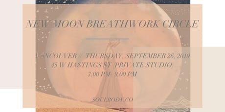 NEW MOON BREATHWORK CIRCLE tickets