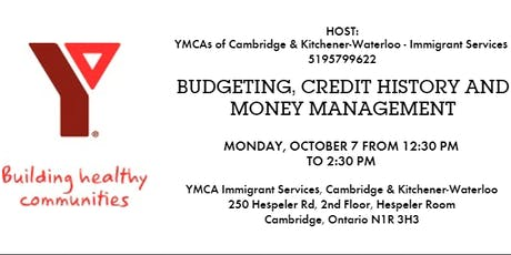 Budgeting, Credit History and Money Management Information Session tickets