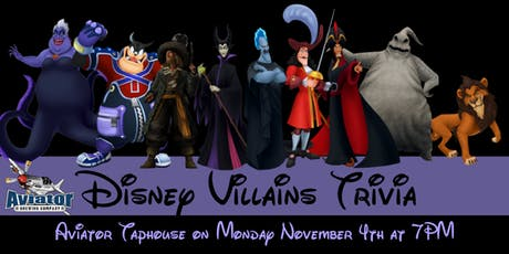 Disney Villains Trivia at Aviator Taphouse tickets
