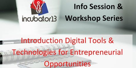 Introduction Digital Tools & Technologies for Entrepreneurial Opportunities tickets
