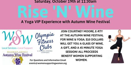 Rise 'N' Wine a Yoga VIP Experience tickets