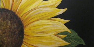 Sunflower-Acrylic Painting on Canvas Class