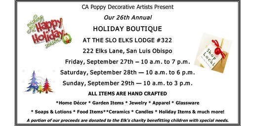 26th Annual Holiday Boutique