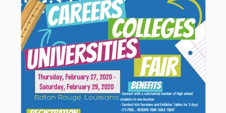 WN? CAREERS, COLLEGES & UNIVERSITIES FAIR 2020-EXHIBITOR/COLLEGE REG tickets
