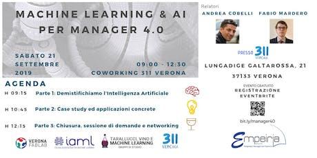 Machine Learning  &  AI  Per Manager 4. 0 biglietti