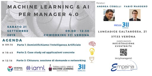 Machine Learning  &  AI  Per Manager 4. 0