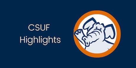 CSUF Highlights Workshop tickets