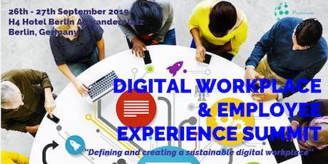 Digital Workplace & Employee Experience Summit 2019 - Berlin tickets