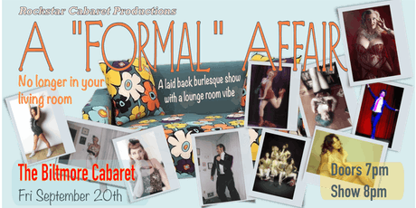 "A ""Formal"" Affair: No longer in your living room tickets"