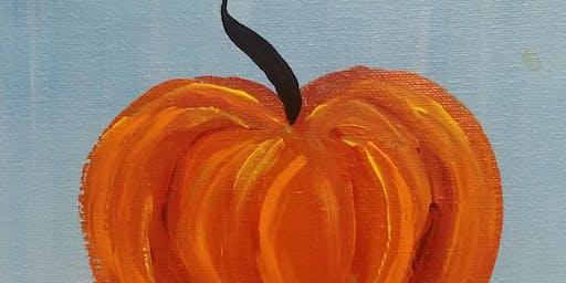 """Pour & Paint """"Pumpkin Wood Sign"""""""