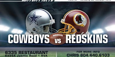 Cowboys- Redskins WATCH Party- FREE!