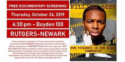 Documentary Screening: Killing Beef - Gun Violence in the Black Community