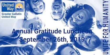 Greater Gallatin United Way Annual Gratitude Luncheon tickets