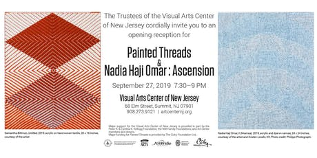Visual Arts Center of New Jersey Fall Exhibitions Opening tickets