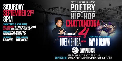 Poetry vs Hip-Hop Chattanooga 4! Queen Sheba vs Kay B Brown + Ft Swayyvo!
