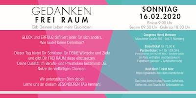 GEDANKEN FREI RAUM !   Nürnberg -    5 Coaches -  5 Workshops