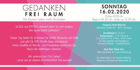 GEDANKEN FREI RAUM !   Nürnberg -5 Coaches -  5 Workshops billets