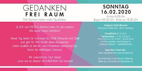 GEDANKEN FREI RAUM !   Nürnberg -    5 Coaches -  5 Workshops Tickets