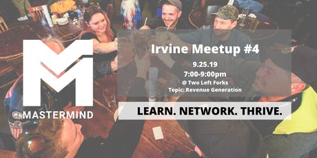 Orange County/Irvine CA  Service Professional Networking Meetup  #4 tickets