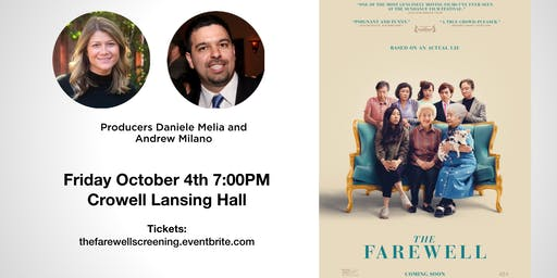 Screening: The Farewell + Q&A with the Producers