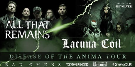 All That Remains + Lacuna Coil tickets
