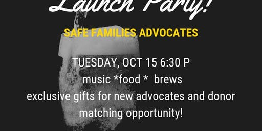 Safe Families Advocates Launch Party at Forrest City Brewery