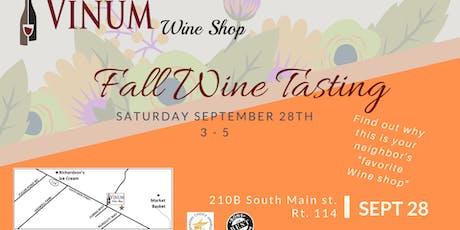Fall Wine Tasting tickets
