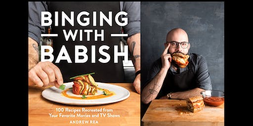 Author event with Andrew Rea of Binging With Babish