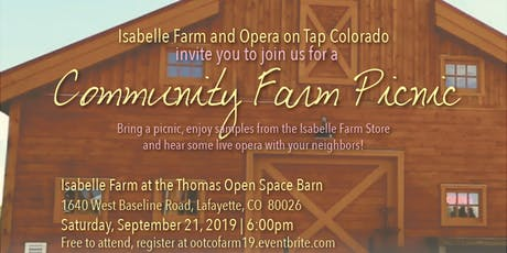 Opera on Tap at Isabelle Farm - Community Farm Picnic tickets
