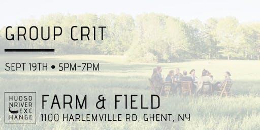 Group Crit at Farm & Field - September