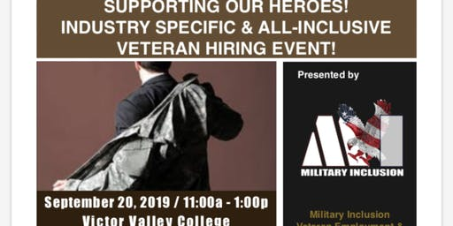 Victor Valley College, Victorville, Military Hire Resource and Career Fair