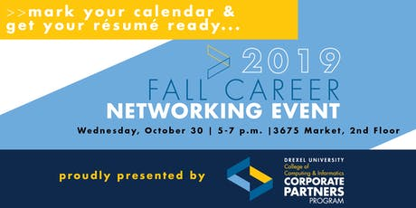 Drexel CCI Corporate Partners Program Fall 2019 Career Networking Event tickets