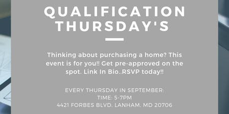 Qualification Thursday's tickets