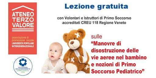 Manovre Salvavita Pediatriche - Disostruzione vie aeree bambino VEDELAGO (TV)