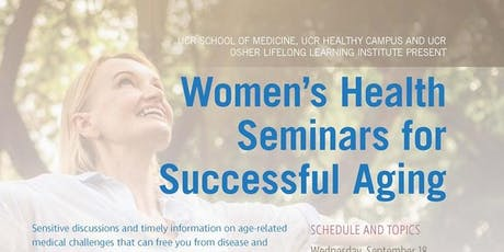 Women's Health Seminars for Successful Aging tickets