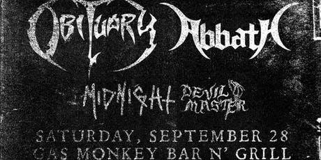 Obituary + Abbath tickets