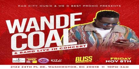WANDE COAL & Band tickets
