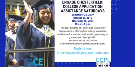 CCPS College Application Assistance Saturdays at Chesterfield Public Libraries  tickets