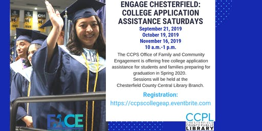 CCPS College Application Assistance Saturdays at Chesterfield Public Libraries