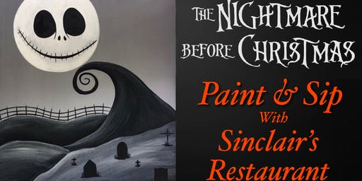 Nightmare Before Christmas Paint &Sip at Sinclair's