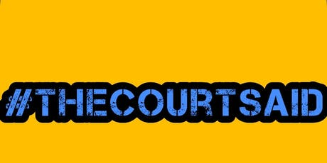#thecourtsaid OXFORD - LONDON  tickets