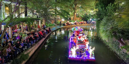 2019 Ford Holiday River Parade at Saltgrass Steak House